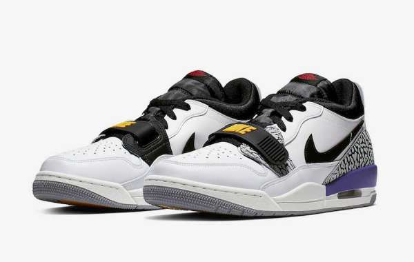 "CD7069-102 Jordan Legacy 312 Low ""Lakers"" Cheap Sale"